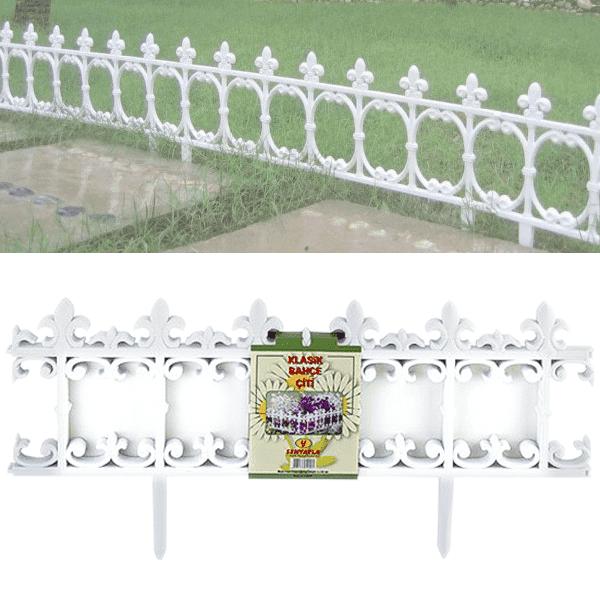 Ограда+декоративна+бяла+за+цветя,
