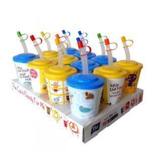 Детска+чаша+с+капаче+и+сламка+400ml