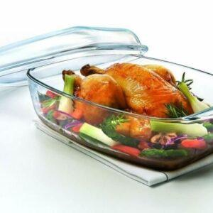 Правоъгълна-тава-за-печене-Pyrex-Irresistible-Боросиликатно-стъкло-